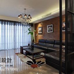 中式风格家庭客厅隔断装修效果图大全