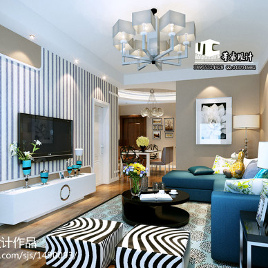 简约家装客厅沙发照片墙装修效果图