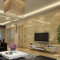 名雅世家现代家装客厅水晶吊顶图片设计