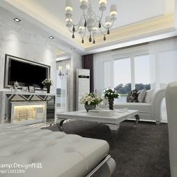 现代简约风格客厅家装装饰效果图