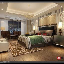 欧式风格卧室家装方形吊顶图片欣赏