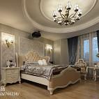 262平米欧式风格室内设计卧室圆形石膏线吊顶图片欣赏