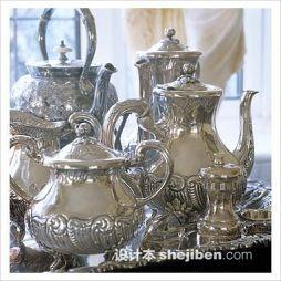 泰国吉象锡器茶具图片