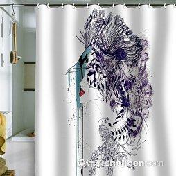 浴室隔断浴帘设计图