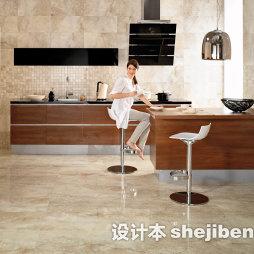 厨房花纹地板砖效果图大全