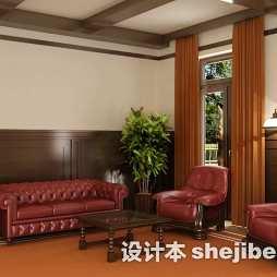 家装客厅实木家具图片大全