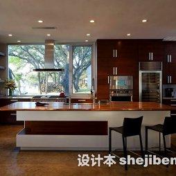 厨房吧台实木家具装修图片