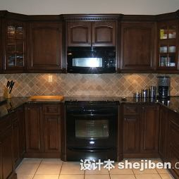 地中海风厨房实木家具图片