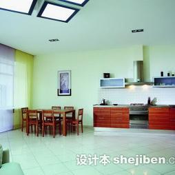 开放式厨房地板砖装修效果图