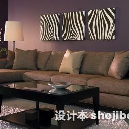 客厅长绒茶几地毯设计效果图