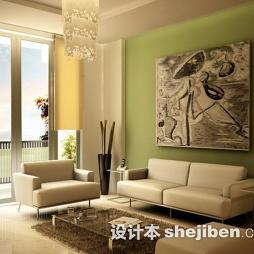 现代客厅茶几地毯效果图欣赏