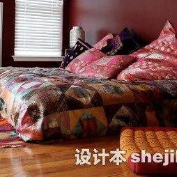 卧室嵌入式电视墙图片欣赏