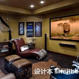 视听室沙发效果图