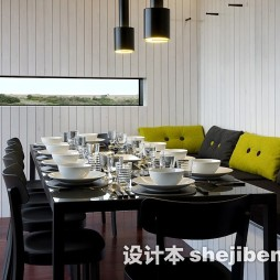 餐厅黑漆实木家具图片