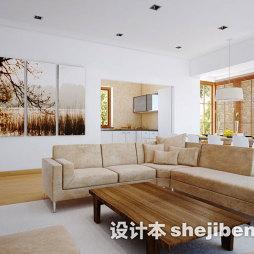 简约家装客厅实木家具图片