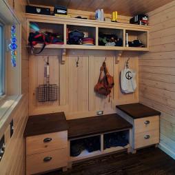 原木鞋柜装修设计