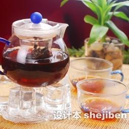 玻璃花茶茶具装修效果图
