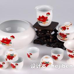 美国陶瓷茶具效果图欣赏