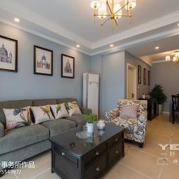 家庭客厅美式风格装修图片
