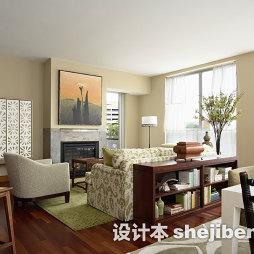 美式小客厅地毯图片