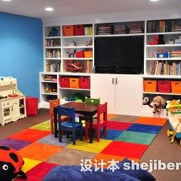 儿童玩具房电视墙装修效果图