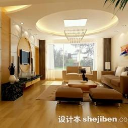 中式现代客厅拼花背景墙效果图大全