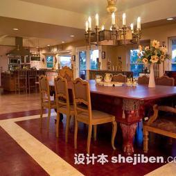 美式餐厅实木家具图片