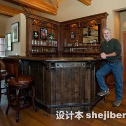 吧台实木家具效果图片
