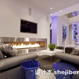现代别墅客厅家庭室内装修图片