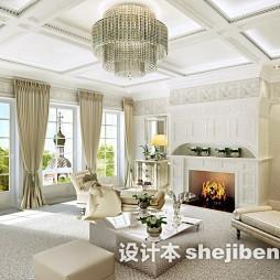 欧式风格豪华客厅吊灯效果图