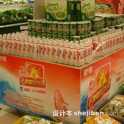 超市商品陈列饮料促销图片