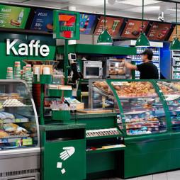 7-11美国便利店货架摆放图片