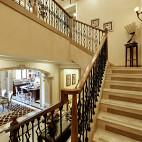欧式铁艺楼梯设计装修图片