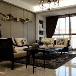 中式家装客厅背景墙装修效果图大全
