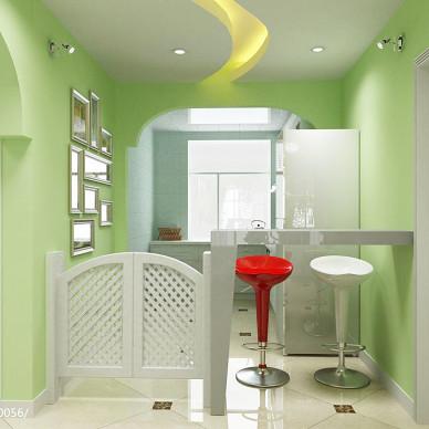 绿色壁纸装修效果图集