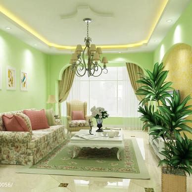 绿色壁纸装修效果图片