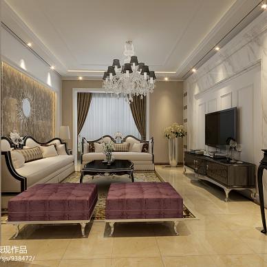 欧式暖色调客厅装修效果图
