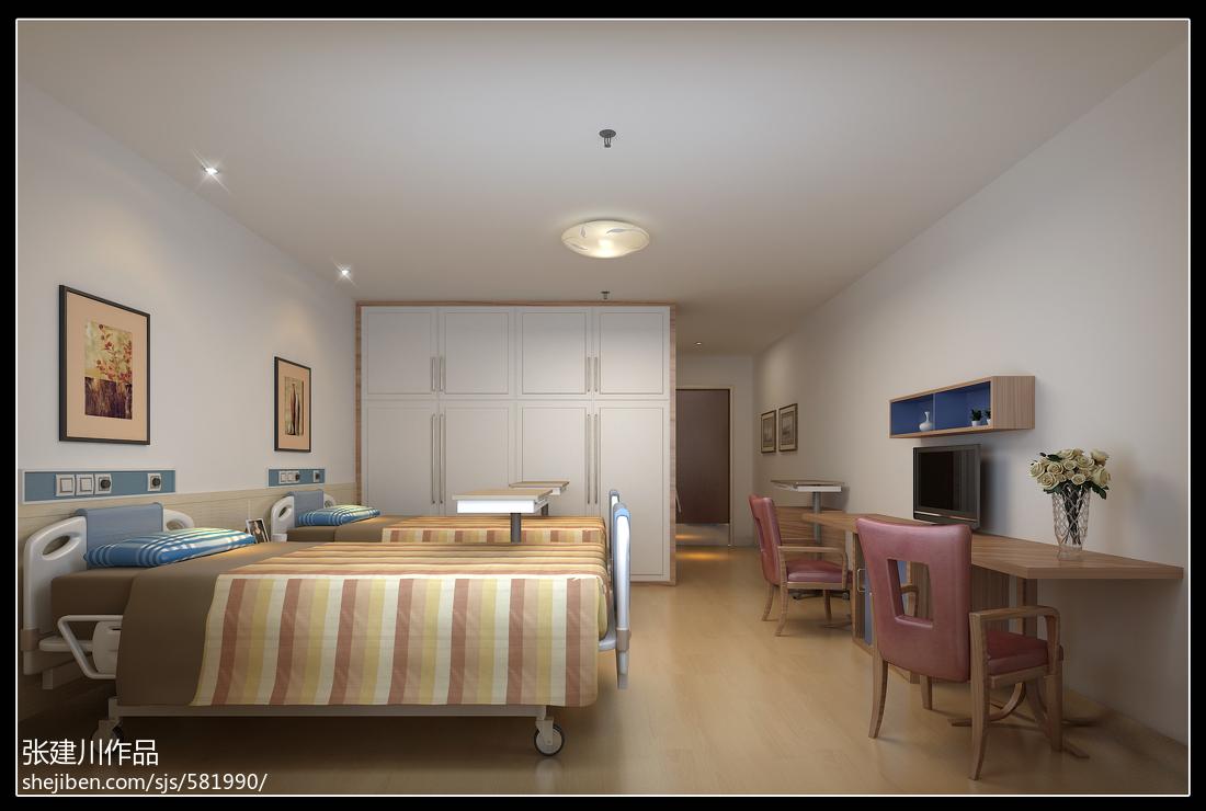 养老院室内装修设计_养老院温馨卧室设计效果图 – 设计本装修效果图