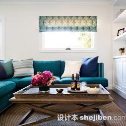 客厅拐角沙发装饰图片