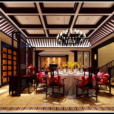 中式别墅台布装修效果图