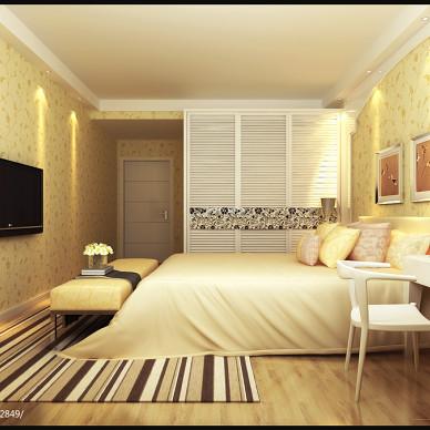 三居室卧室房门装修设计图