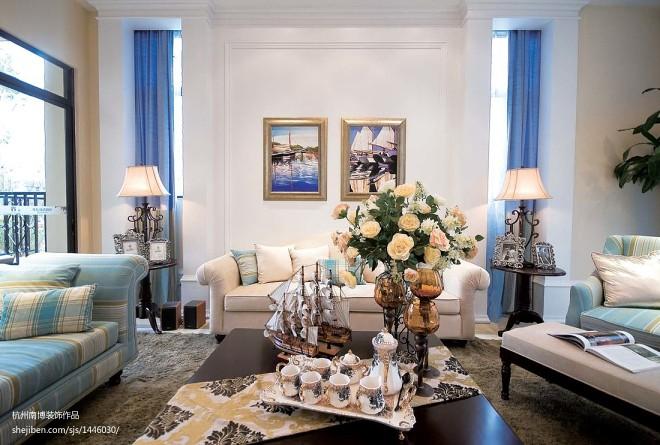 四居室欧式布艺沙发装修图片