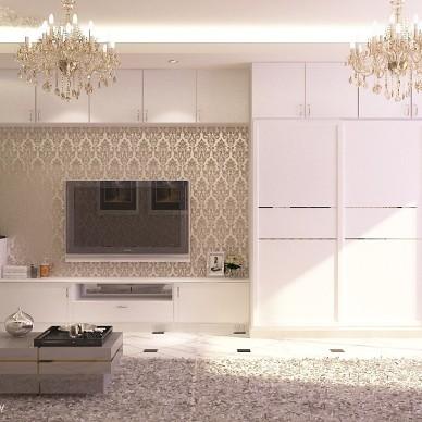 单身公寓客厅简单装修效果图