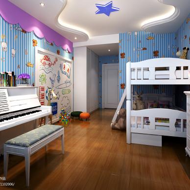 美式儿童房浅色地板效果图