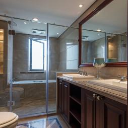 现代卫生间整体淋浴房装修效果图
