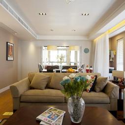 现代三室两厅客厅吊顶效果图