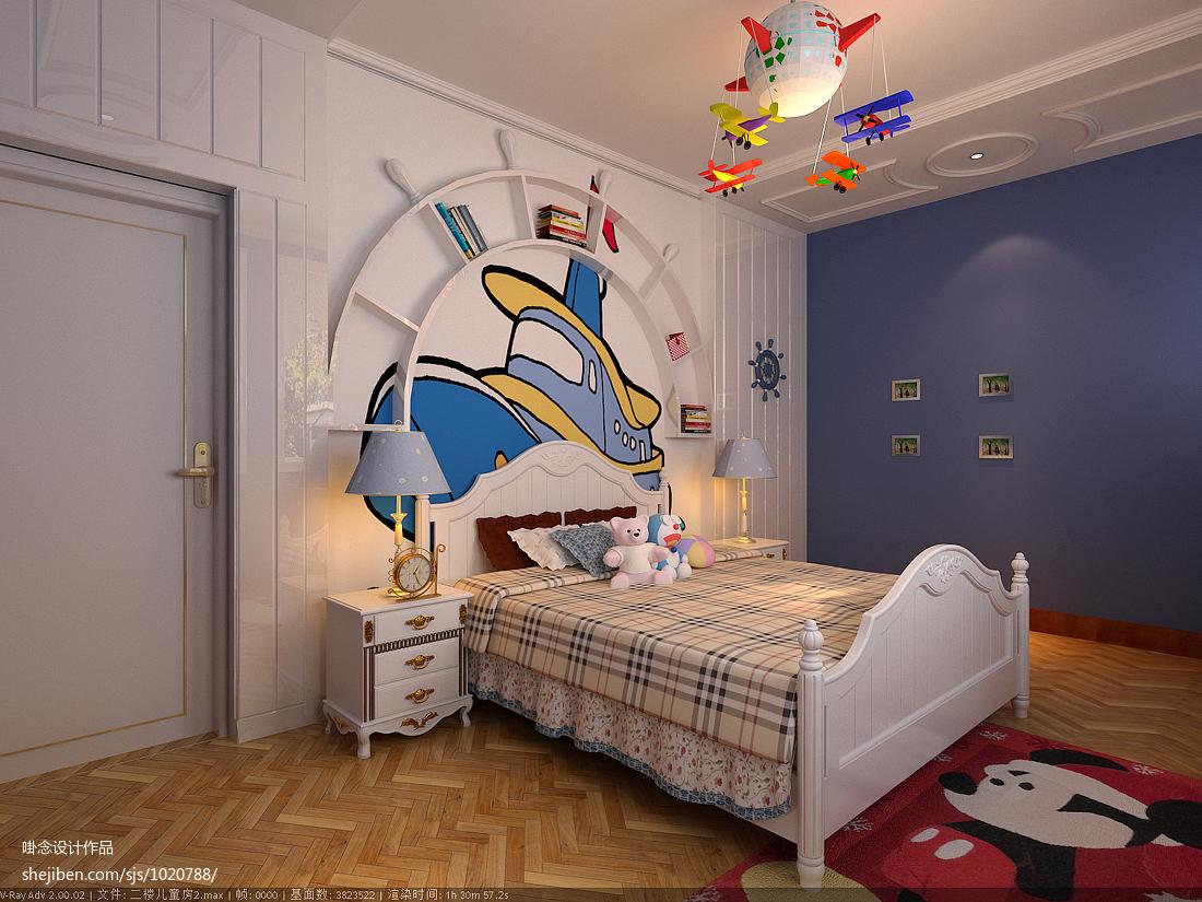 欧式风格手绘涂鸦墙效果图