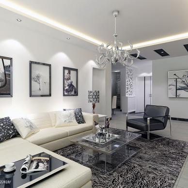 客厅转角沙发装修效果图