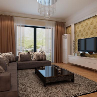 客厅液体壁纸装修效果图欣赏