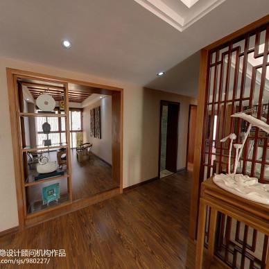 中式新古典风格客厅隔断装修效果图大全2017图片